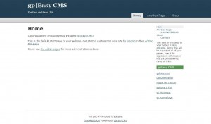 Screenshot CMS gpEasy Admin Interface