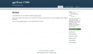 Screenshot CMS gpEasy Admin Interface