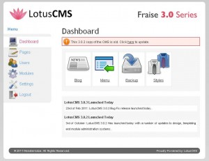 Lotus CMS - Backend Demo