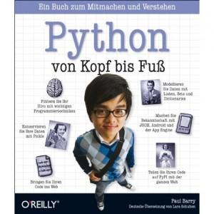 """Cover """"Python von Kopf bis Fuss"""""""
