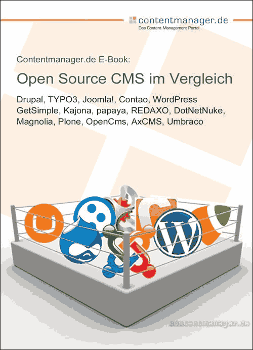 Cover eBook CMS Vergleich - contentmanager.de